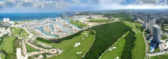 Puerto Cancun GC: Aerial